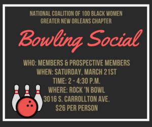 NCBW-GNO Members & Prospective Members Bowling Social @ Rock 'N Bowl
